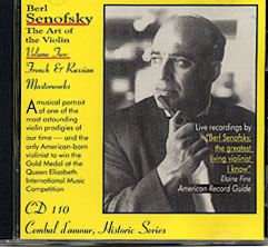 Cembal d'amour Cd 110, Berl Senofsky Violin, Vol. 2