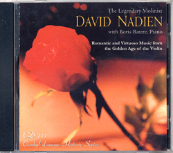 Cembal d'amour CD 111, David Nadien, Violin