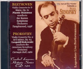 Cembal d'amour CD 126, Berl Senofsky, Violin, Vol. 3